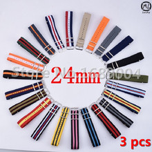 Strap Hours 24 Nato 24mm Nylon Watch Band Waterproof - 34 Colors Stock mm Lucky Inn store