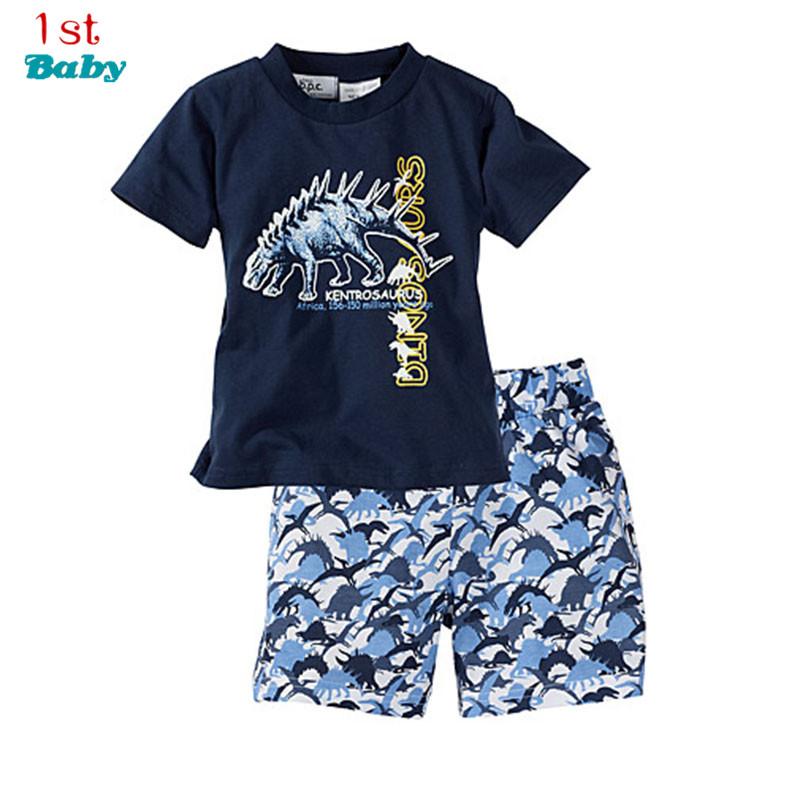 2016 summer children's clothing sets cotton casual sports baby boys clothes sets o-neck short-sleeve t-shirt+shorts 2pcs suits(China (Mainland))
