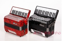 Free Shipping Accordion, 48Bass 30 Keys Accordion with Red and Black Color Available(China (Mainland))