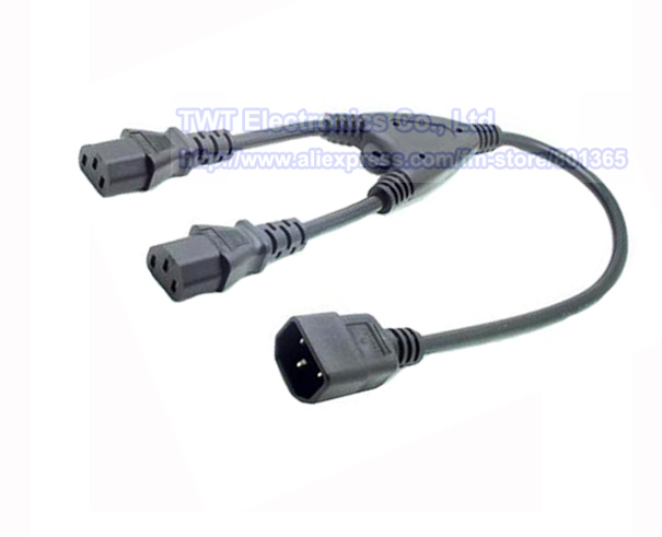 Кабель питания TWT IEC 320 C14 2XC13 , C14 C13 Y , 10 EPC-14213FM кабель сетевой apc power cord kit 6 ps locking iec 320 c13 to iec 320 c14 10a 208 230v 1 2 m ap8704s ww ap8704s ww