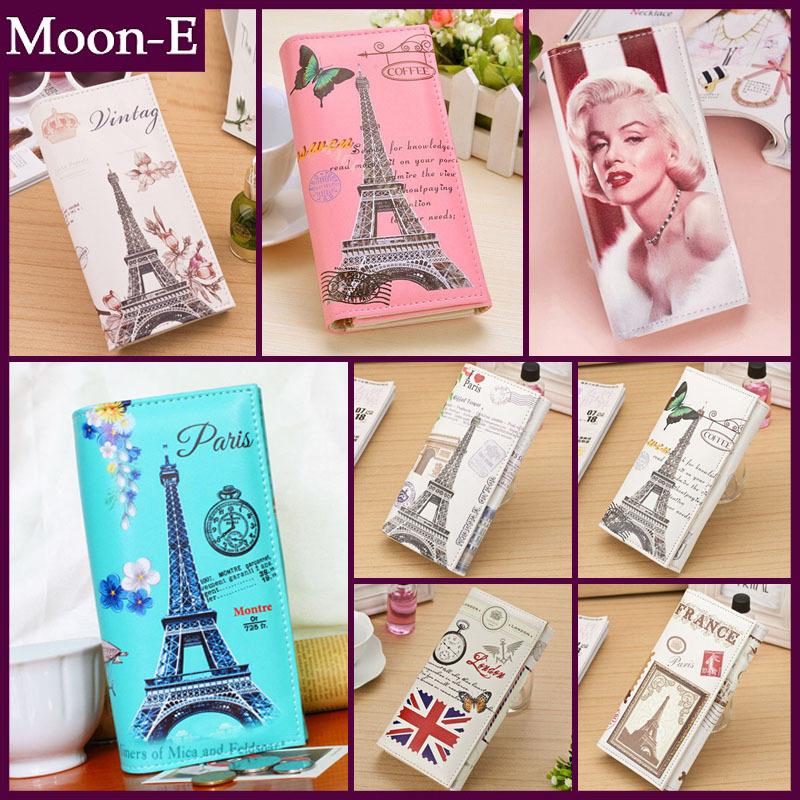 ... Women Wallets Handbags Fashion Brand Long PU Leather Paris Eiffel Tower  30 Styles Lady Coin Purse ...
