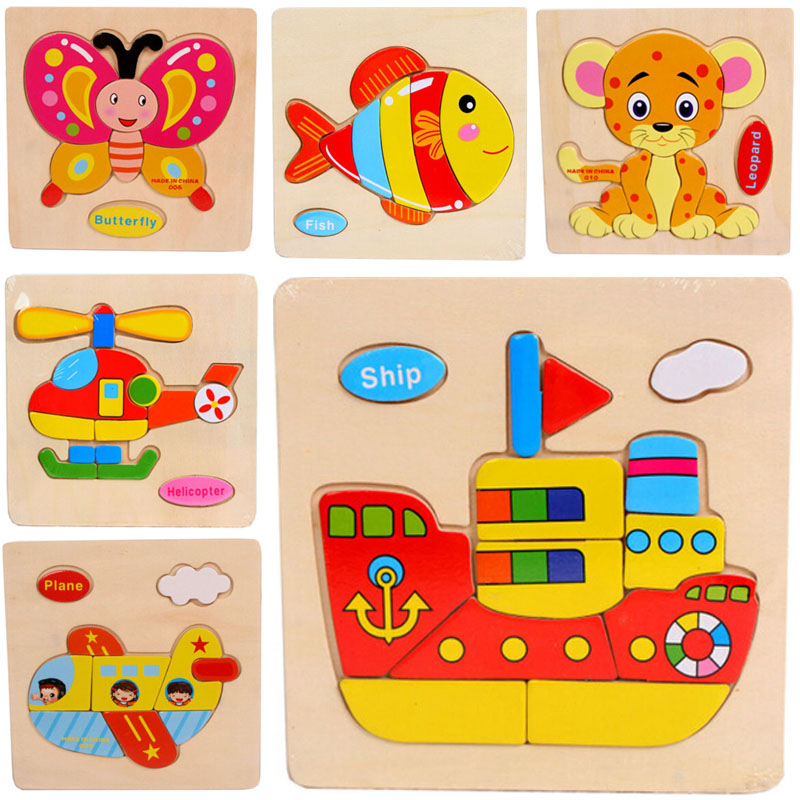 Гаджет  Retail Baby Children Educational Wooden Toys Puzzle Kids 15*15cm brinquedos educativos toy Puzzles for children None Игрушки и Хобби
