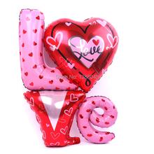 """Valentýnské balónky nápis """"LOVE"""" z Aliexpress"""