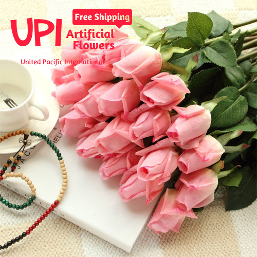 () Artificial Real Touch Rose Decorative Flowers Bouquet Wedding Home Party Decorations - Union Pacific International Trading Ltd. store