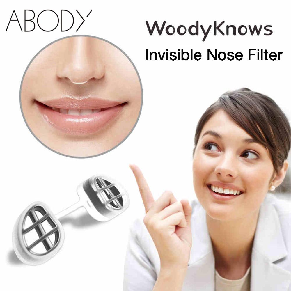WoodyKnows Air Filter Super Defense Nasal Filters Nose Masks Invisible Reduce Pollen Dust PM2.5 Air Pollution Nose Filter Care(China (Mainland))