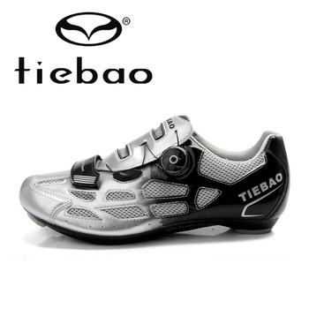 Tiebao Новый Горячий Продажа по Велоспорту на шоссе Обувь Мужская Спортивное Профессиональный Дорога Велоспорт Обувь Auto-lock Обувь