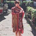 Red Folk Bohemian Tassel Geometric Aztec Viscose Shawl Scarf 2016 Spain Brand Muffler Casual Wrap Prints