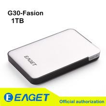 Original EAGET G30 1TB USB 3.0 High-Speed Ultra-thin Shockproof External Hard Drives Portable Desktop Laptop Mobile Hard Disk(China (Mainland))