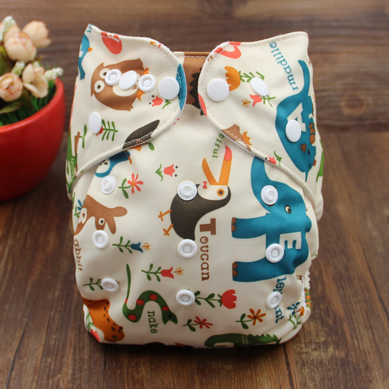 Fashion Pororo 4pcs/lot 1pcs Diaper Cover & 3pcs Insert Baby Cloth Diaper Children Nappy & Liners Baby Care Pants 0-3 Years Old