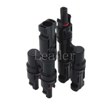 Branch Connectors Solar Pair MC4 Connectors Y Connector MMF FFM for PV / Photovoltaic System Plus(China (Mainland))