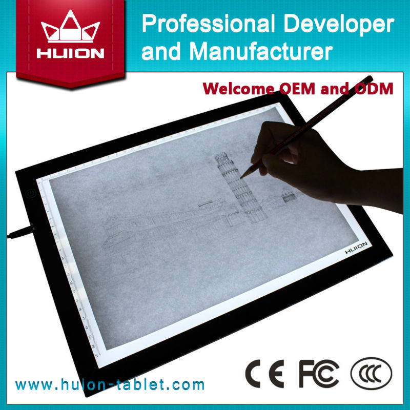 Wholesale Hot New Huion A4 LED Tracing Board Ultra Thin Touch Variable Illumination Light Boxes Professional Animation Light Pad(China (Mainland))