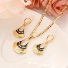 Kristall TASCHE trommel Anhänger Kette Halsketten Ohrringe Gold Farbe PNG Schmuck Set Papua-neuguinea Hochzeit partei frauen mädchen geschenke(China)
