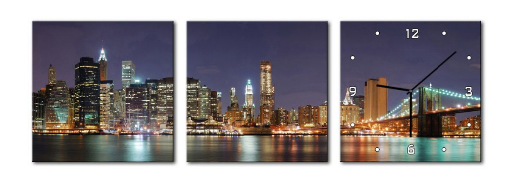 Здесь можно купить  Free delivery 3 pieces of art of wall painting printing on canvas painting of modern city.  Дом и Сад