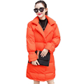Fashion Woman Winter White Duck Down Puffer Coats Orange Black White Parka Women s Casual Lightweight
