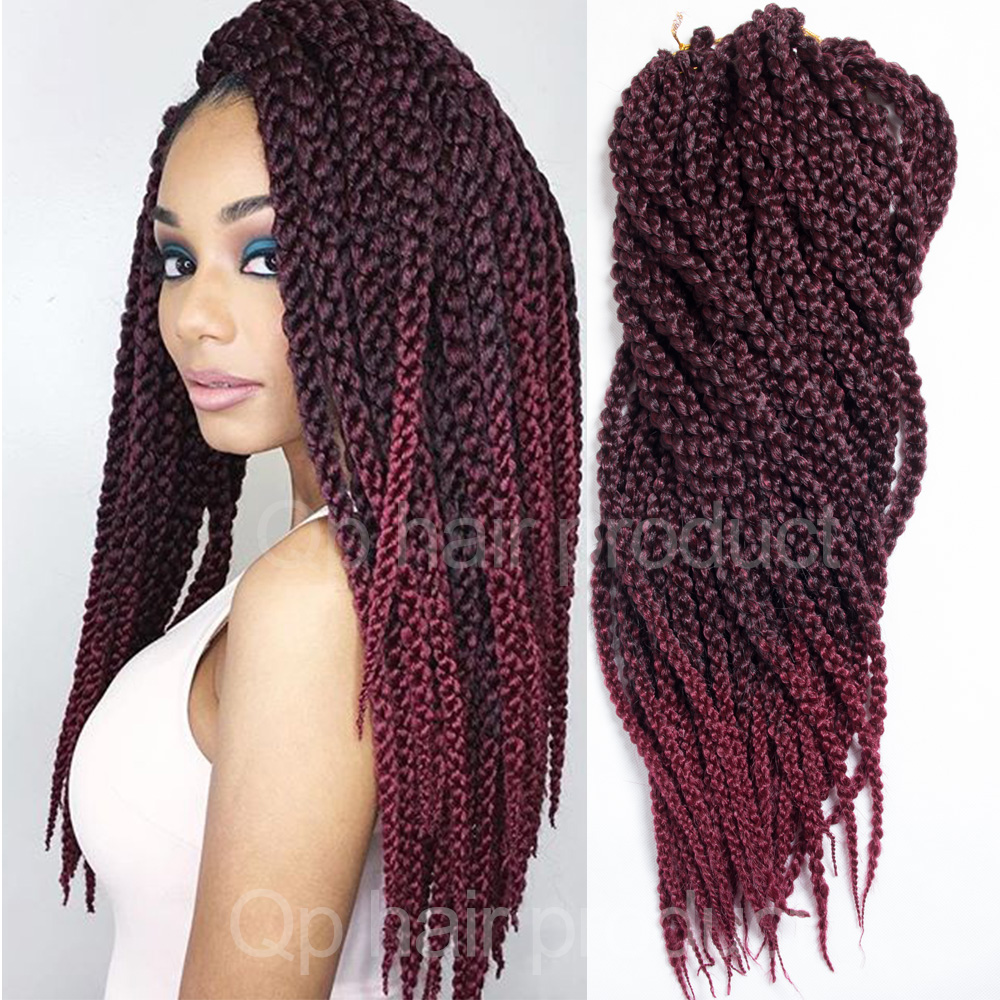 Crochet Hair Ombre : Twist Crochet Braids Ombre 24 150g/pack Ombre Crochet Braid Hair ...