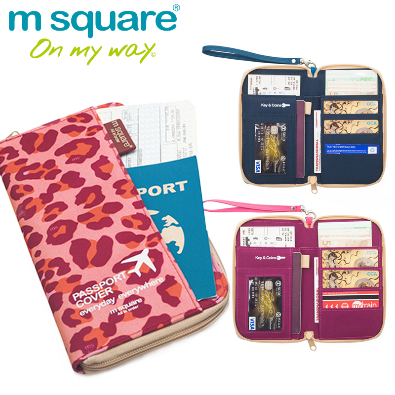 M Square Travel Wallet Passport Cover on The Passport Holder Document Organizer Holder Purse Business ID Credit Card Holder(China (Mainland))