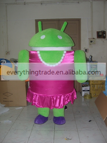 On slae strong green android mascot costume mascot advertising mascot customized mascot costumes party costumes Christmas(China (Mainland))
