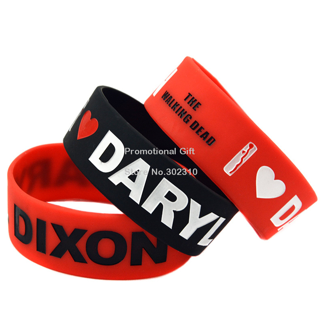 The Walking Dead 1″ Wide Silicon Daryl Dixon Wristband