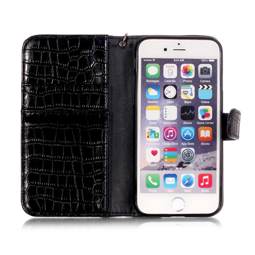 Newest Luxury Crocodile Snake Wallet Leather Fundas Flip Case Back Cover for iphone 6 6s 6 Plus 5 5S SE Phone Bags Coque Capa