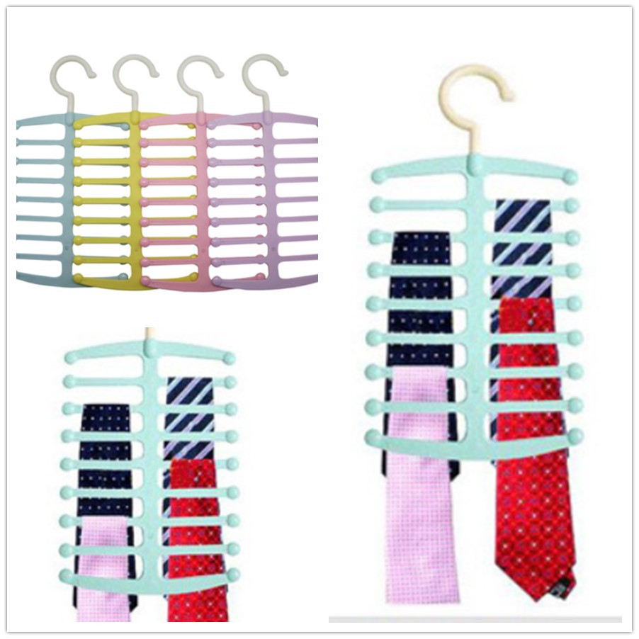 Best Promotion! Fishbone Shape Hanger Necktie Tie Towels Belt Shawl Scarf Rack Space Saving Lowest Price(China (Mainland))