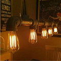 Vintage Pendant Lights Metal Iron Water Pipe Lamp Steampunk Lamps E27 Bulbs Pendant Lamp Warehouse Bar