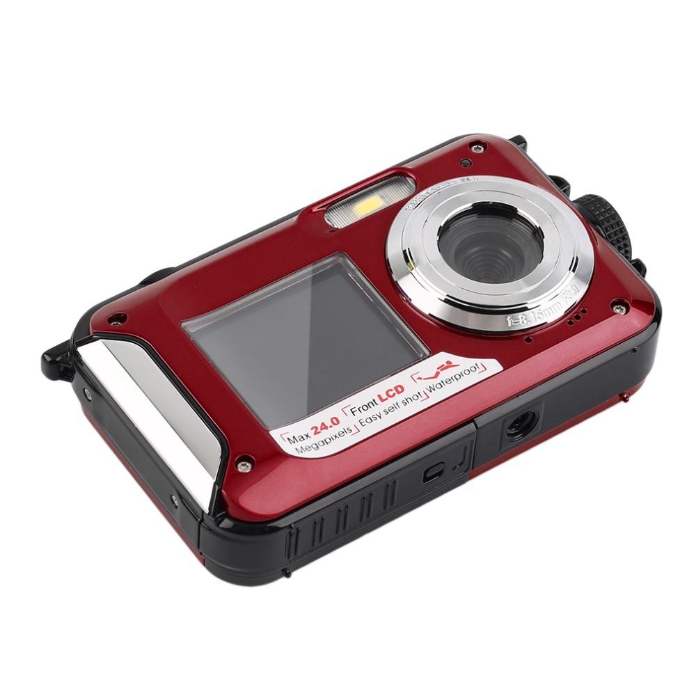 Winait Super 24Mp Fashion Digital Camera 1080P Full HD Video 2.7″+1.8″ Dual Screen 3M Waterproof Camera 16X Digital Zoom
