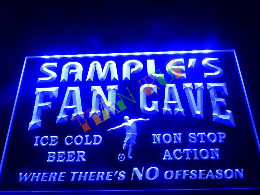 DZ068- Name Personalized Custom Bar Soccer Football Fan Cave Man Beer Neon Sign hang sign home decor shop crafts(China (Mainland))