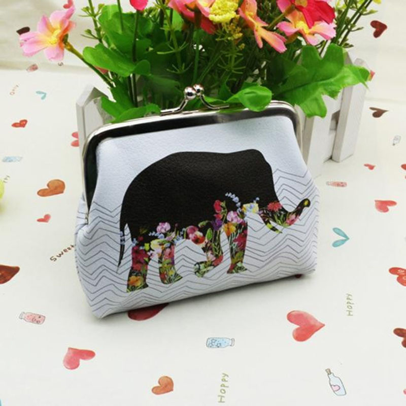Fashion Women Coin Purse Cartoon Elephant Girls Kids Mini Wallet Clutch Coin Card Holder Cute Money Bag Purse Gift Hot Sale 2016(China (Mainland))