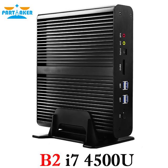 Windows Mini pc i7 Barebone HTPC Intel Nuc Fanless Computer Broadwell 5Gen Core i7 5500U 4 Gen Core i7 4500U 4560U 300M WIFI
