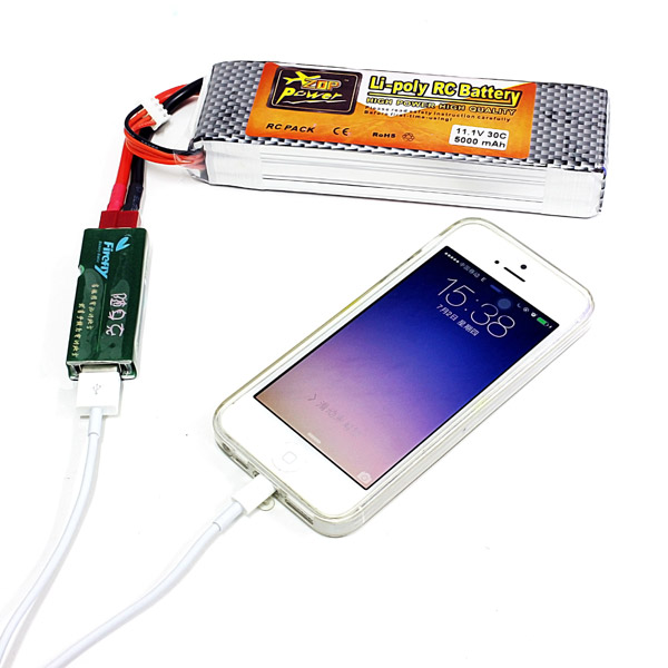 Wholesale RC Model Battery USB Charger Adapter For Mobile Phone Portable Charge