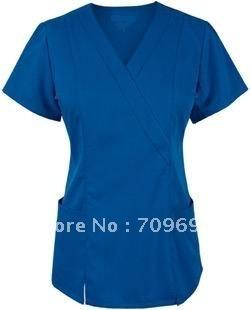 New women hospital uniform medical scrubs nurse uniform nurse clothes doctor gown lab coat  operation clothes tops work wear
