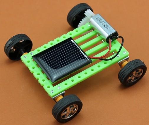 10set/lot DIY mini solar car technology&educational solar power toys gadget cars kit(China (Mainland))
