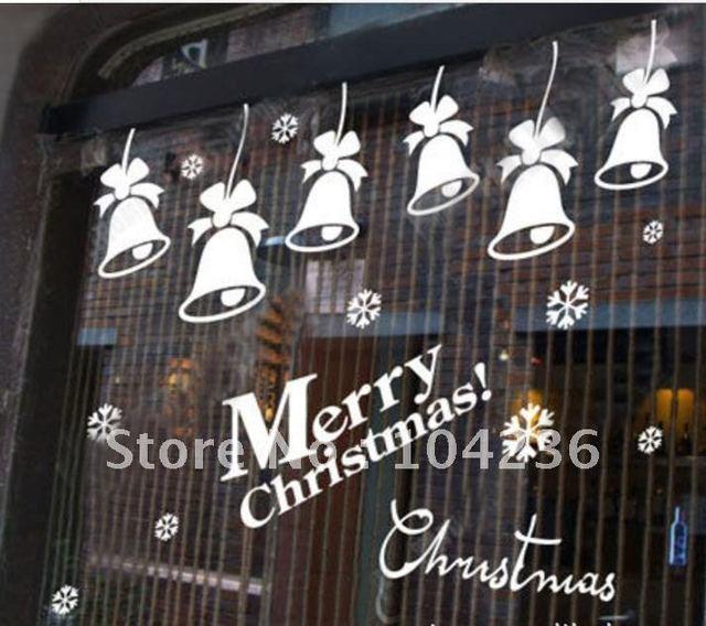 ZooYoo Factory Discount:Marry Christmas Snow/Jingle Bell /Vinyl Wall Decals 62*62cm/ Waterproof Window Car/Home Decor Sticker
