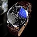 Luxury High Quality Black Brown Genuine Leather Quartz Business Dress Wrist Watch Wristwatches for Men Male