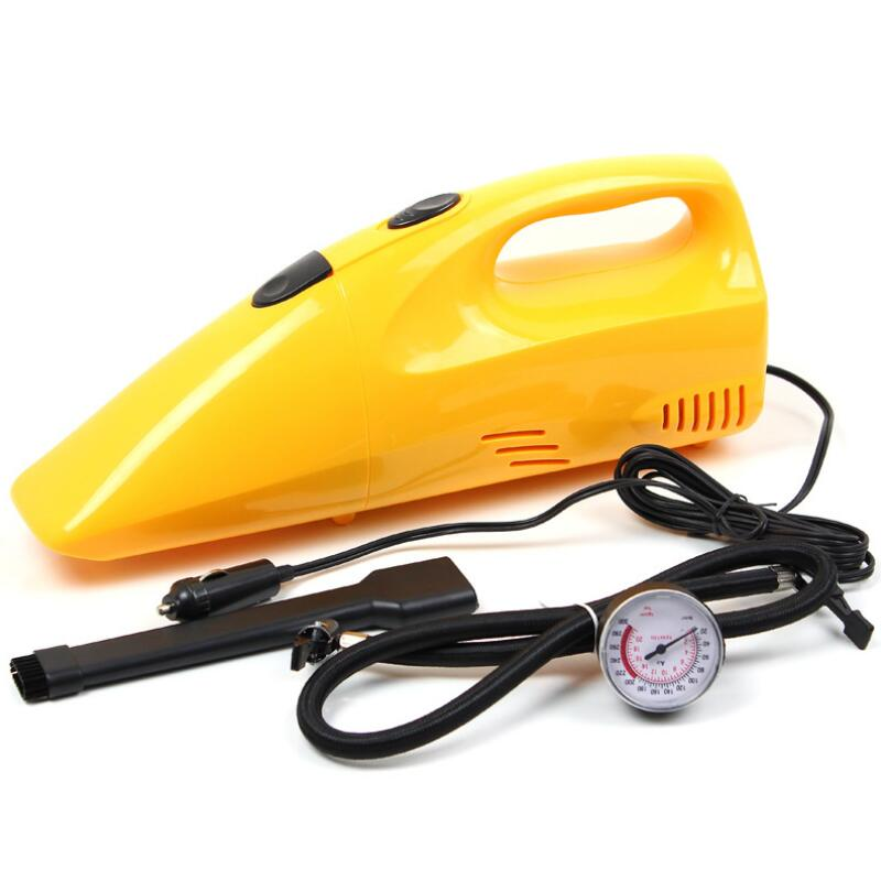 Aimee auto car inflatable pump car vacuum cleaner 3in1 belt tire gauge high quality for all car universal