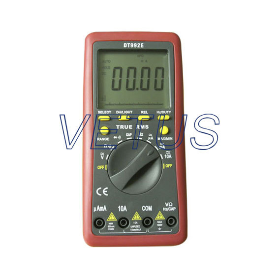 Free shipping  True rms auto range digital multimeter DT992E capacitance frequency resistance tester DT-992E<br>