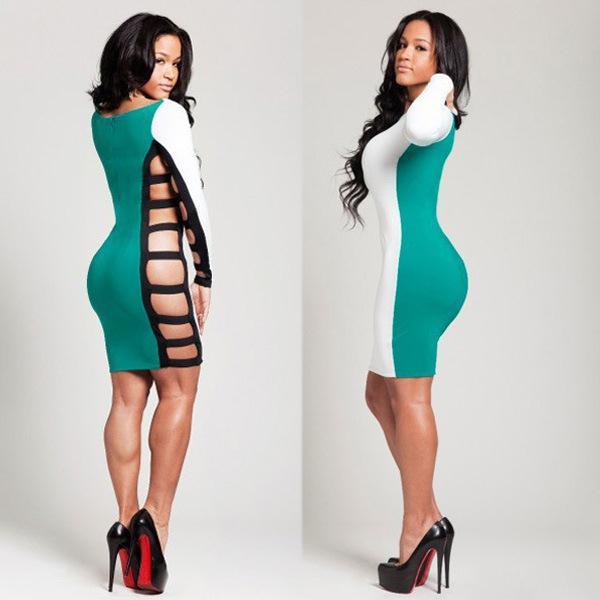 Платье ниже колена обтягивающее с чем носить