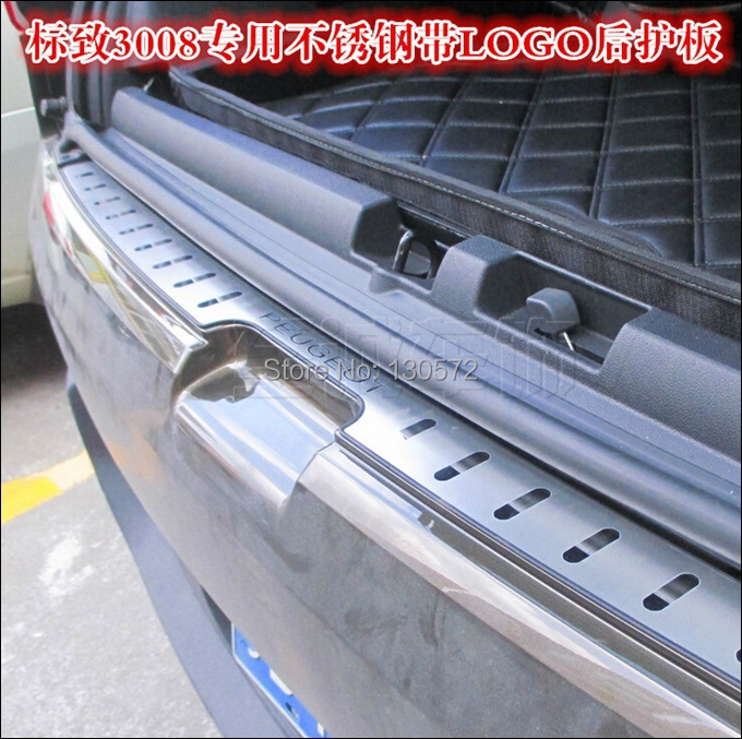 Stainless steel Rearguards Rear bumper Trunk Trim Bumper Pedal Fit For  2011 2012 2013 2014 Peugeot 3008<br><br>Aliexpress
