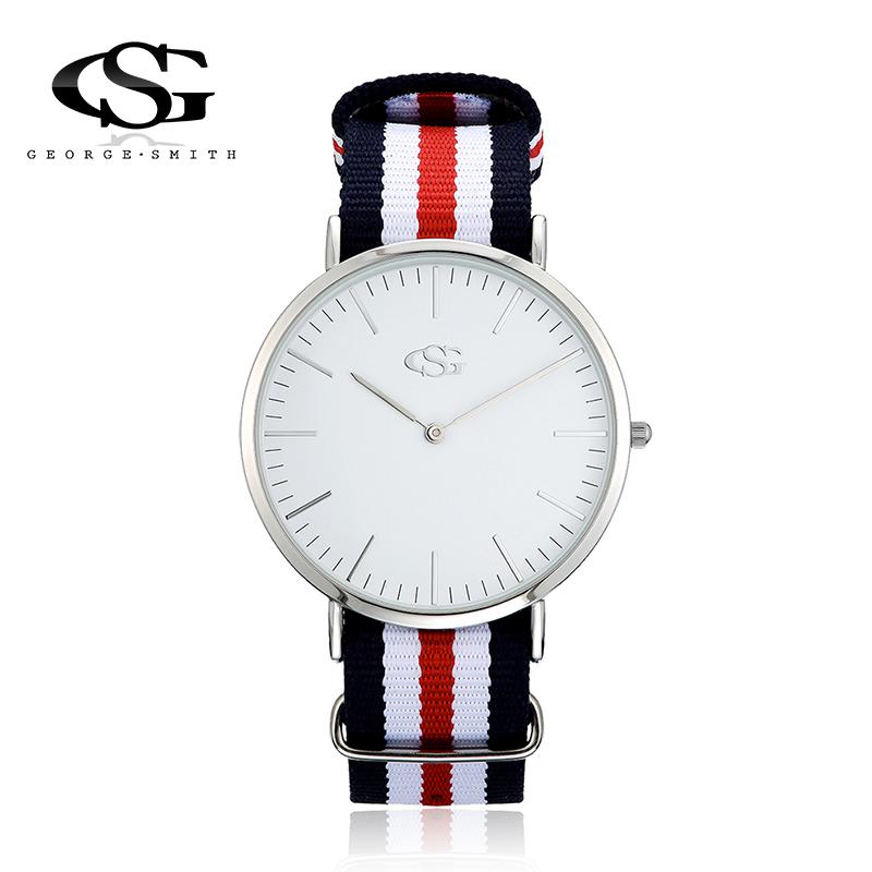 GS Brand Top Quality Analog Watch Nylon DIY Removable Striped Strap Wristwatch Women Men Unisex Watches Casual Quartz Watch(China (Mainland))