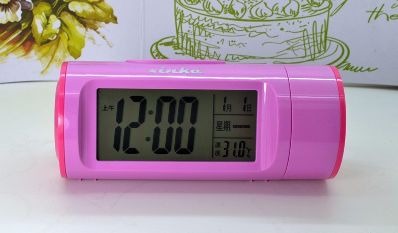 Free Shipping Acoustic Control Voice Clock LED Alarm Clocks Modern Style Clocks for Children Gift(China (Mainland))