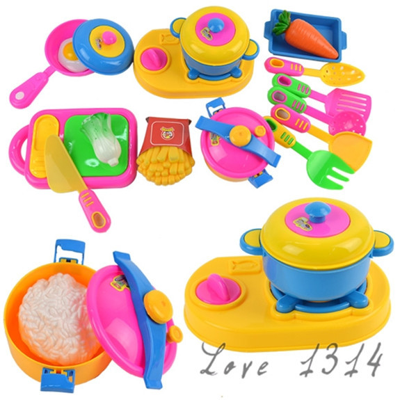 Child Kitchen Toys Set Classic Toys Cooking Tools Kids Pretend Play simulation Baby Girls Educational Role Cook playing toy 8857(China (Mainland))