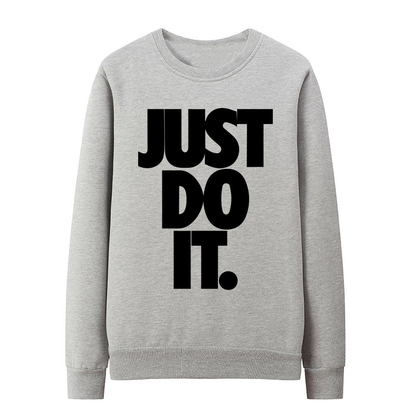 New Autumn Winter Men & Women Hoodies Just Do It Sweatshirts Sports Top Brand Fashion Printed Men Clothing Outwear(China (Mainland))