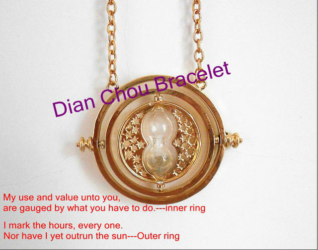 Freeshipping 30pc Time-Turner 18k gold necklace Horcrux NECKLACE BAB133