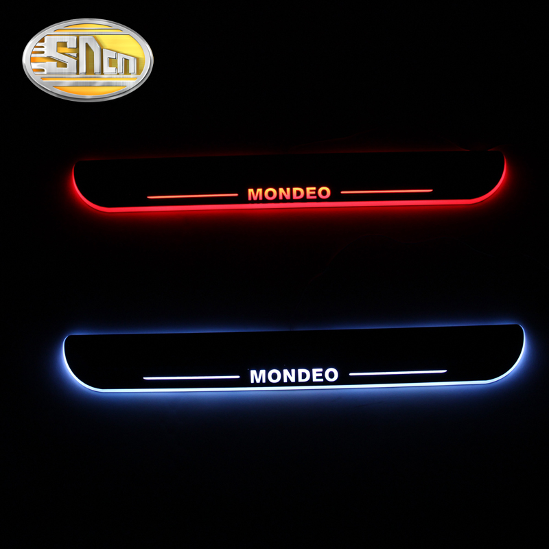 Acrylic LED Welcome Scuff Plate Pedal Door Sill Ford Mondeo 2013 2014 2015, Front