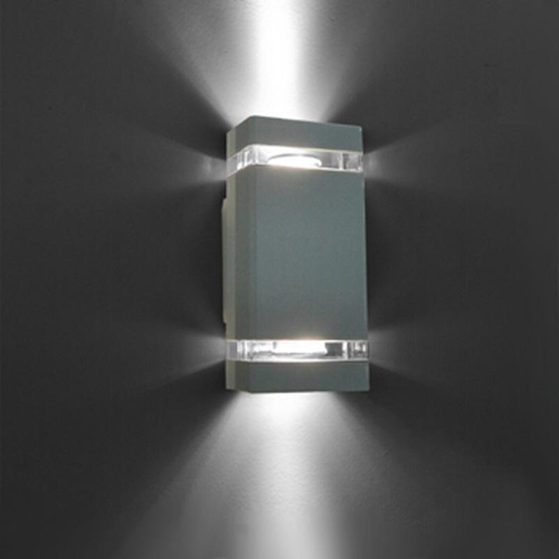 1pcs/lot LED Waterproof Outdoor Modern Wall Light Mounted 8W AC85-265V IP54 Aluminum Wall Lamp(China (Mainland))