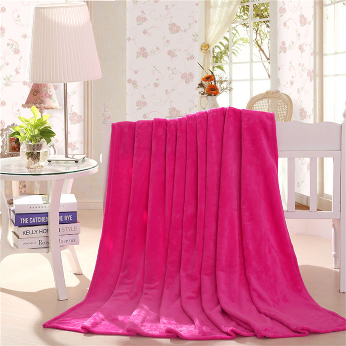 Hot Sweet Design Fleece Throw King Size Warm Blanket Solid Of Air Conditioning In Summer Nap Blanket(China (Mainland))