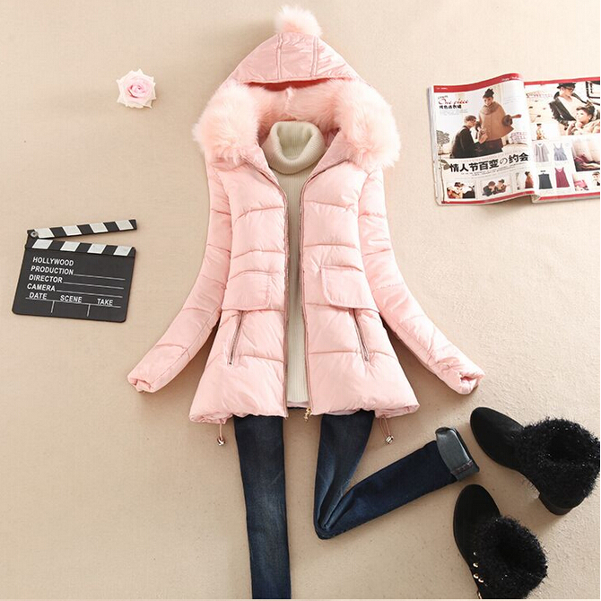 2015 Women Winter Coat Thicking Long paragraph Nagymaros Collar Slim Hooded Womens Plus Size Parkas White Duck Jacket - New shop store