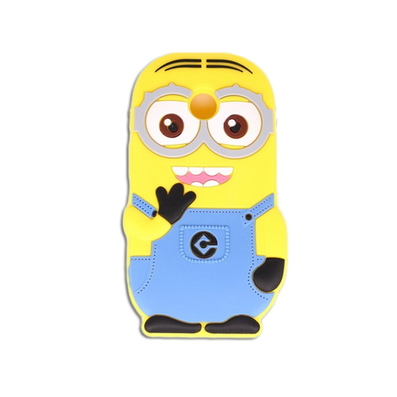 Mobile Phone Case Motorola Moto E 2nd Gen 2016 Silicone Durable Back Cover Lovely 3D Cartoon Minions Pattern - Rose Angel store