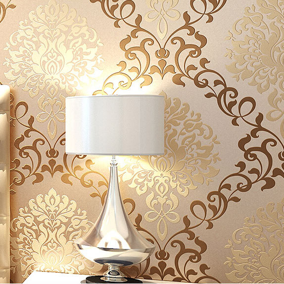 Roll toy picture more detailed picture about modern gold for Gold wallpaper designs