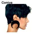 Comiya Punk Exaggerated big black moon drop Earring Fashion Women s Pendientes charm Dangle Earrings for